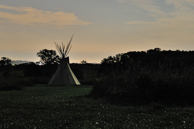 Shaw Nature Reserve (Arboretum), in Gray Summit, Missouri, USA - Teepee