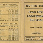 Iowa City-Cedar Rapids Bus Lines, Timetable, Schedule