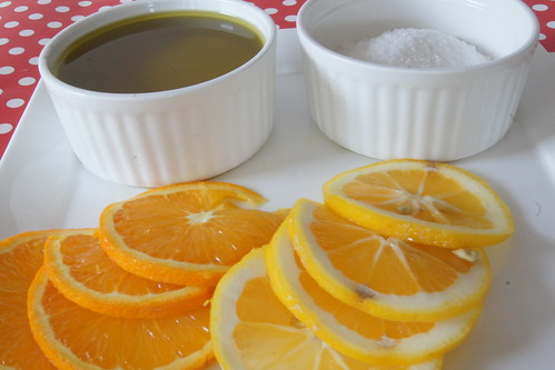 Orange and Lemon Scrub