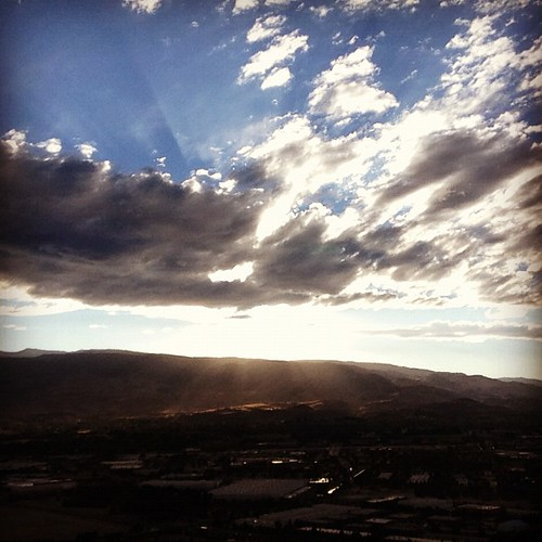 View from the top of #rattlesnakemnt Post work #run #reno #nevada #skies are pretty. #shuttersisters