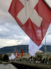 Flag in Geneva
