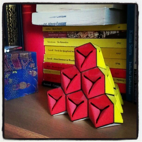 Day 9: red, a #rubicscube only in pyramid shape #red #FMSphotoaday