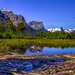 Saint Mary Lake reflections by Paul Domsten