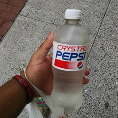 What a great way to start my morning... Finally found #crystalpepsi !!!!