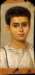 Fayum mummy portrait of the Boy Eutyches