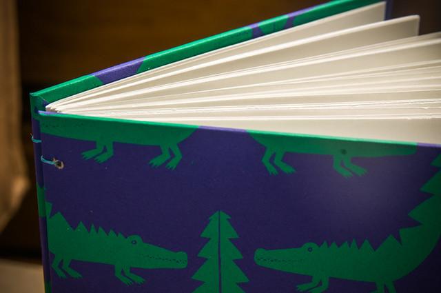 Aligator Handbound Sketchbook by Kleiner Eisbar
