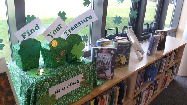 St. Patrick's Day library display
