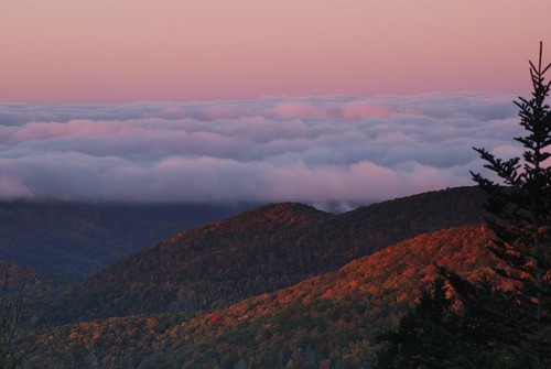 autumn mountains fall sunrise dawn nc northcarolina hills peaks blueridgeparkway daybreak balsam pisgahnationalforest devilscourthouse clouddeck