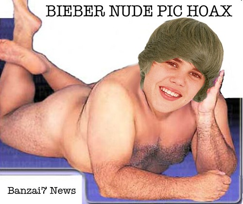 BIEBER NUDE PIC HOAX by Colonel Flick