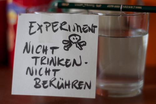 Experimente mit Fr. Kleinkind