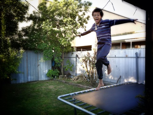 He still loves the trampoline. Day 282/266