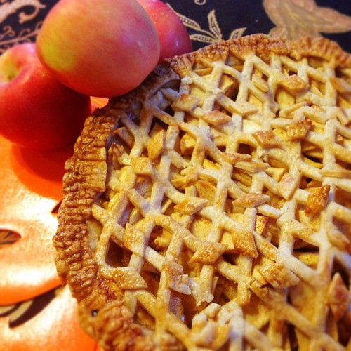 The apple pie has been baked, and filled the house with yummy cinnamony smell goodness!!! #applepie #fall