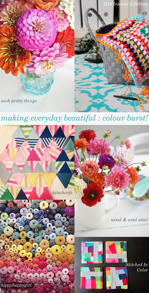 making everyday beautiful : colour burst! | Emma Lamb