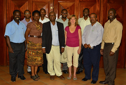 Group photo of the program management team, Karin Tonderski the TAC representative and project 4 team