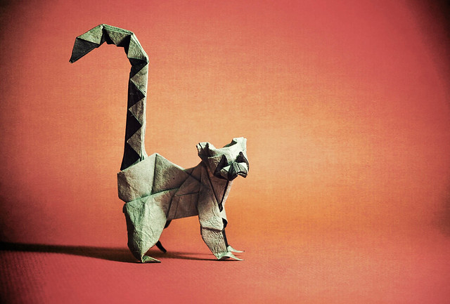 Origami Ring Tailed Lemur