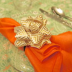 Book Hooker Guest Post - Greek Key Napkin Rings