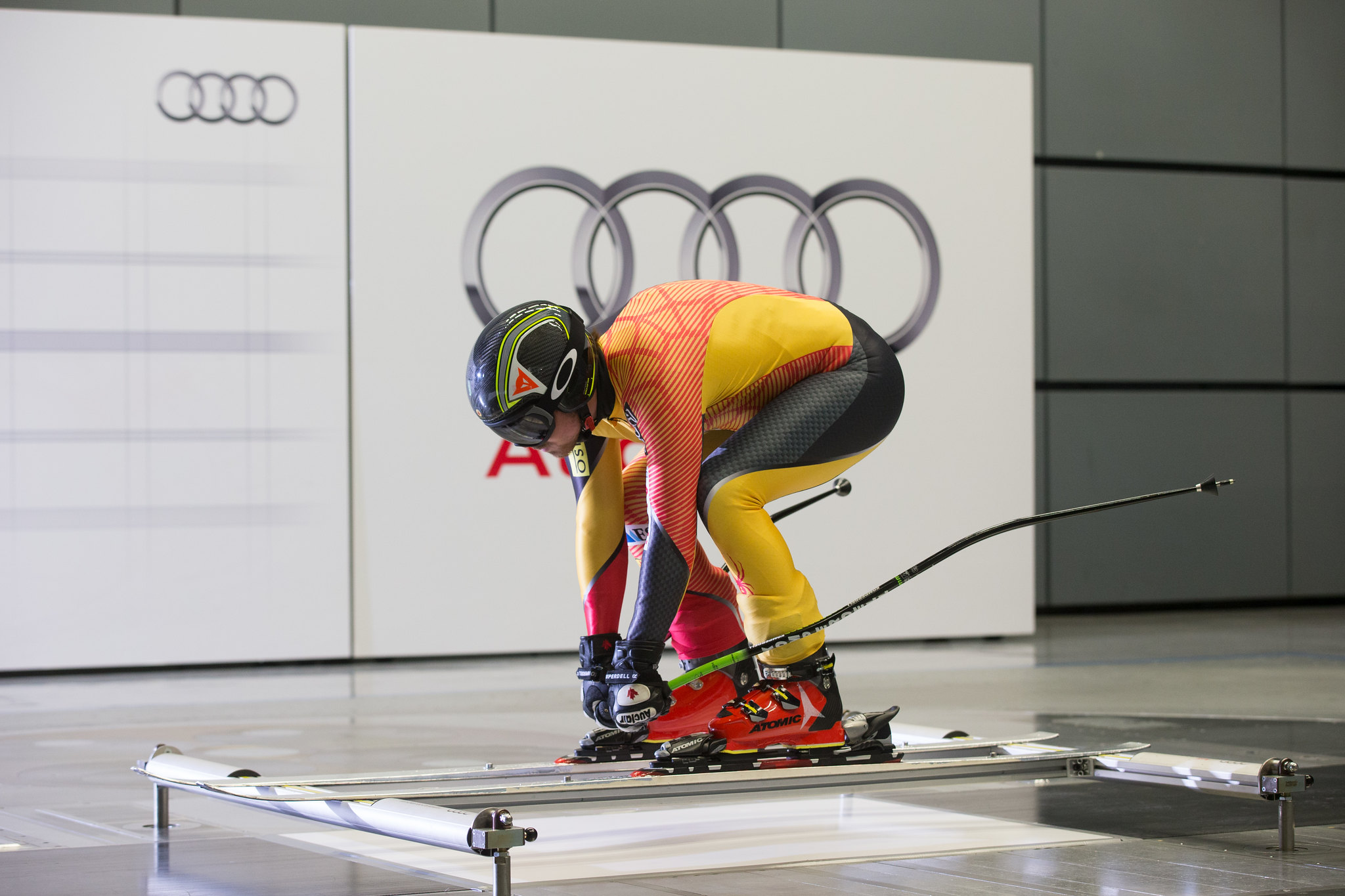 John Kucera during wind-tunnel testing at an Audi facility in Germany.
