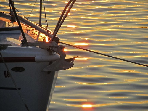 light sunset sea orange color reflection water silhouette golden boat ship sandiego embarcadero blinkagain