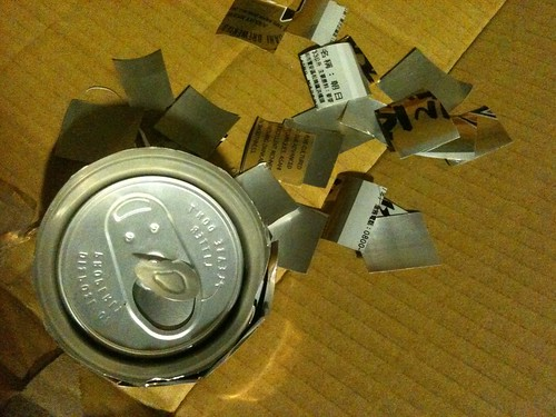 找個鋁罐剪個2CM平方