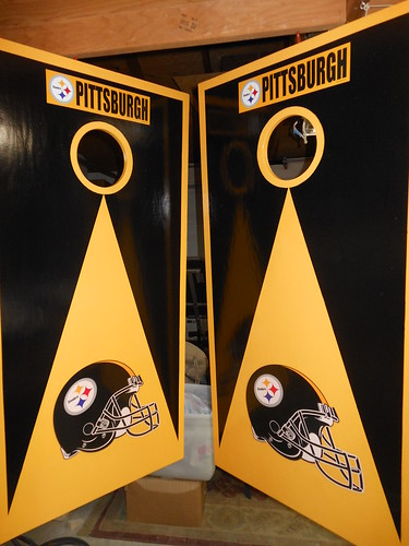 Thanks Jake for sending us the picture of your cornhole boards!