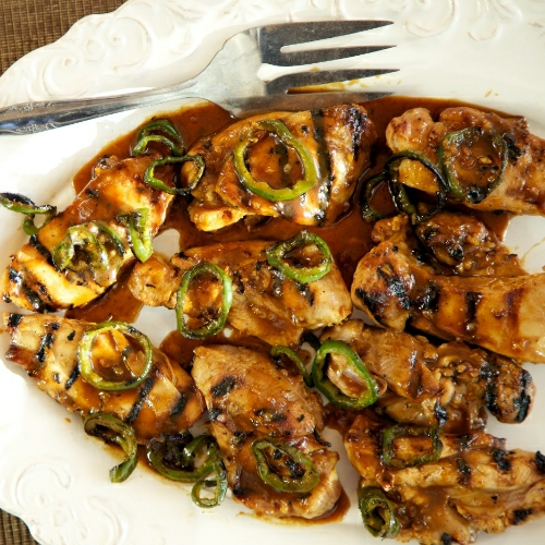 Easy weeknight honey jalapeno chicken thighs recipe everyday southwest honey jalapeno chicken thighs forumfinder Choice Image