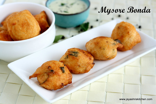 MYSORE BONDA RECIPE | Jeyashri\'s Kitchen
