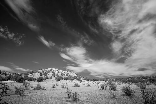 sky blackandwhite bw newmexico clouds landscape lamy galisteopreserve
