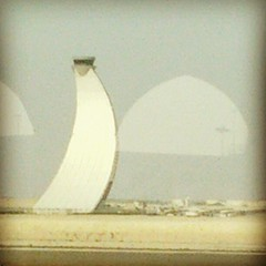 Windswept control tower