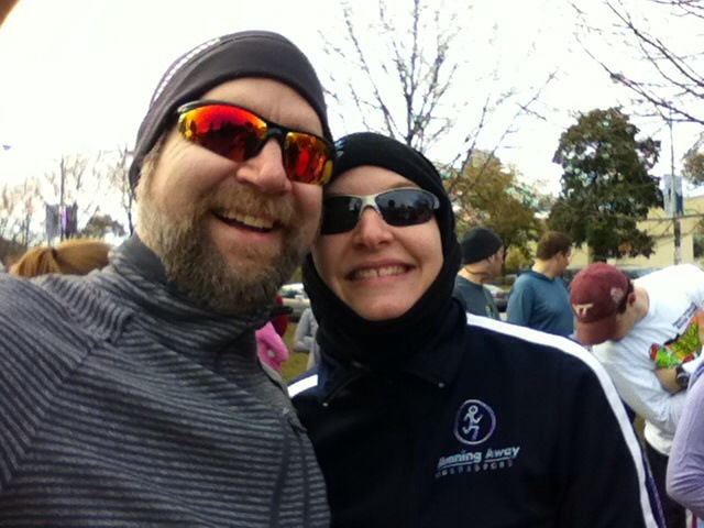 Fuzzy and Erica at the Run for Science 5K