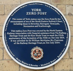 Photo of York Zero Post blue plaque