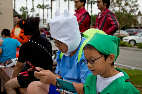 Kids with their 3DS