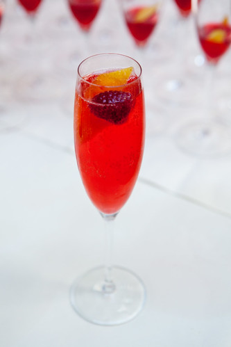 My raspberry Champagne cocktail