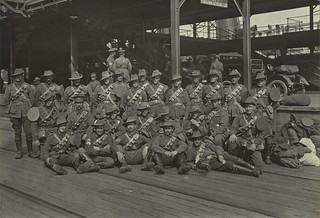 Members of the 21st Reinforcements, 4th Light Horse Brigade about to depart on the troopship NESTOR