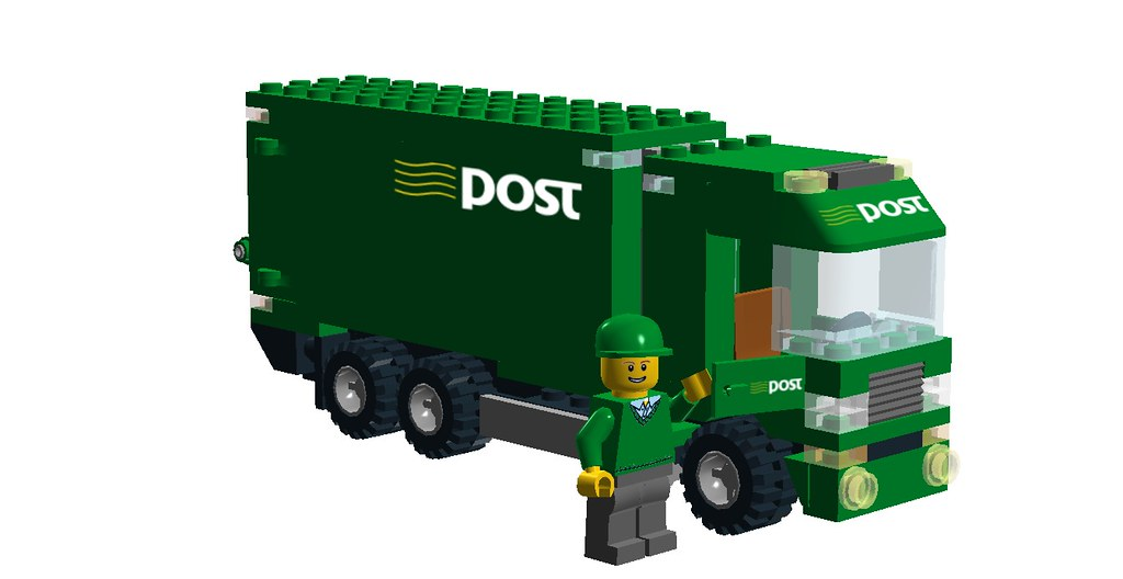 Irish Post Truck - Minifig