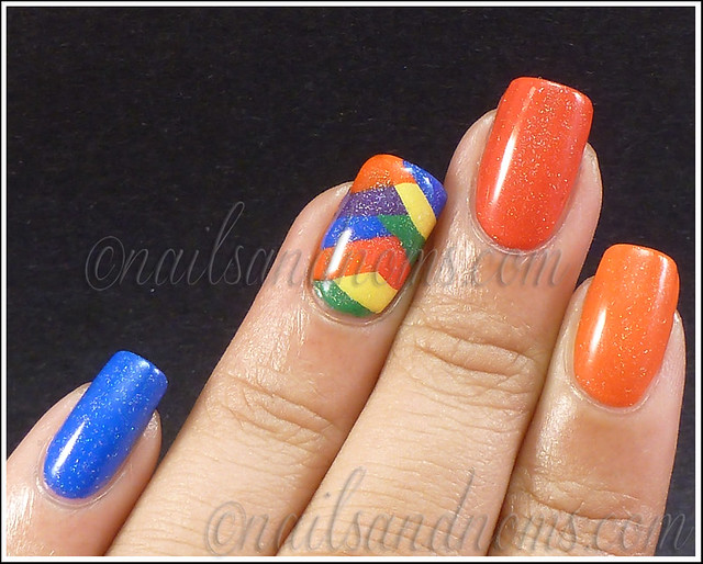 31DC2012 Day 9 - Rainbow Nails 7