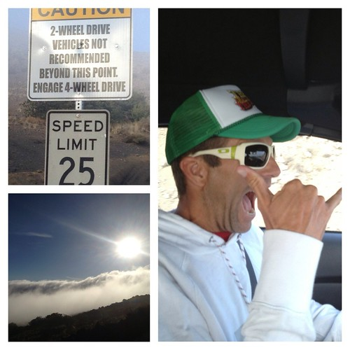 Driving up Mauna Kea in a Mustang