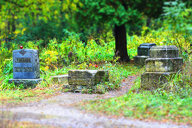 Shooting Bachelors Grove Cemetery In The Rain Palos