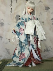 textile, clothing, kimono, fashion, costume, dress, doll, toy,