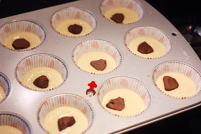 健康輕食-低脂無油配方香蕉杯子蛋糕 banana cup cake 3