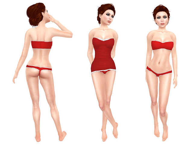 Mushu Lingerie & Lacely Top From CandyDoll