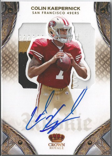 2011 Crown Royale #202 Colin Kaepernick JSY AU RC (199 of 299)