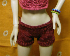 Burgundy Shorts - Front