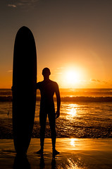 [Free Images] Sports, Water Sports, Sunrise / Sunset, Surfing / Surfer, People - Sea / Ocean, Silhouette ID:201211011800