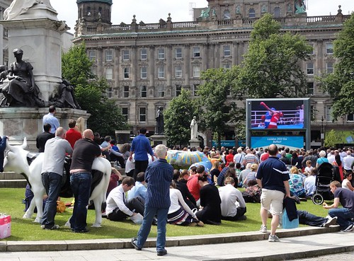 Belfast City Hall Grounds Big Screen Olympics 2012