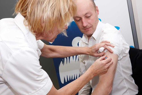 Flu fighter gets the flu jab