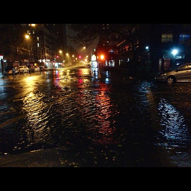 PHOTO: Alphabet City #NYC is flooded by #Sandy! Ave C between 9th and 11th St