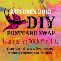 DIY POSTCARD SWAP autumn 2012