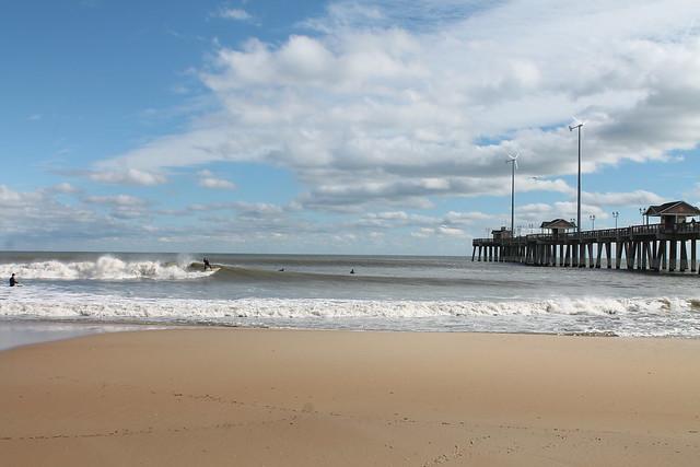 Surfing at jennette 39 s pier flickr photo sharing for Jennette s fishing pier