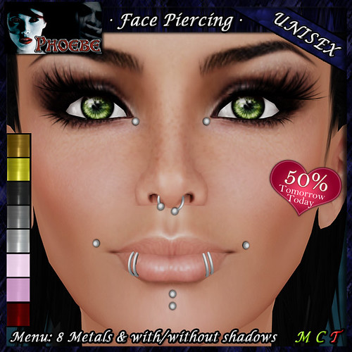 *P* Unisex Face Piercing K8 ~8 Metals~ TOMM TODAY