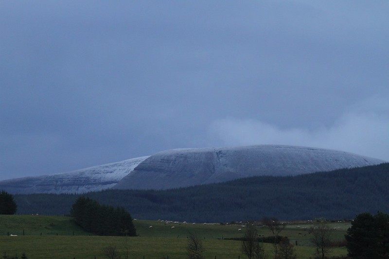 dusting of snow 1st november 2012 brecon beacons